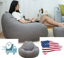 Bean Bag Cover Lazy Sofa Indoor Large Chair Couch Lounger Cozy Kids Chairs Adult