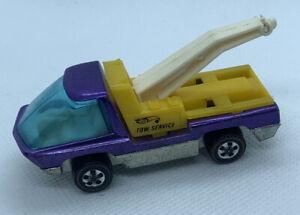 VTG 1969 Hot Wheels Redline THE HEAVYWEIGHTS Purple Tow Service Truck Hong Kong