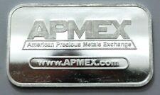 1 Oz 999 Silver Bar APMEX Eagle Shield American Precious Metal Exchange Bullion.