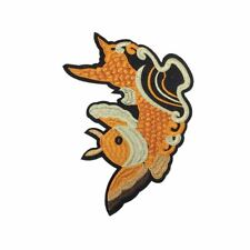 Orange Scaley Fish (Iron On) Embroidery Applique Patch Sew Iron Badge