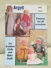 Vintage Knitting Pattern  Booklet Outfits For Baby And Fashion Dolls