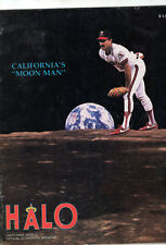 1989 Halo Magazine Califonia Angles VS Cleveland Indians Score Book