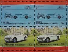 1957 AUSTIN HEALEY 100 Car 50-Stamp Sheet / Auto 100 Leaders of the World