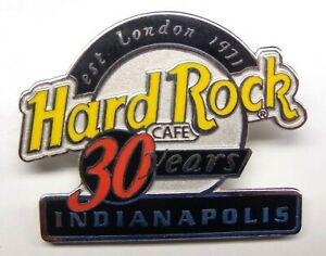 HARD ROCK CAFE INDIANAPOLIS 30 YEAR ANNIVERSARY PIN  HRC LOGO