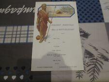 Paquebot Albertville Congo Belge - menu 25 décembre Noël 1932