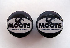 Moots handlebar bike caps, Moots Bike frame logo end plugs, Moots handlebar caps