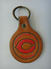 Vintage Cincinnati Reds Baseball MLB Leather Key Chain Ring Fob