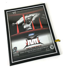 """WWE No Mercy 2003 PPV Framed Magazine Print Ad 9"""" x 11.5"""" Brock Lesnar Poster"""