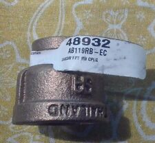 "3/4"" x 3/8"" FPT Red Brass Coupling 48932/AB119RB-EC Qty. 1"