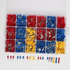 New 1200PCS Insulated Assortment Electrical Wire Connector Crimp Terminals Case