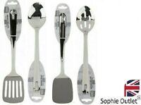 Kitchen Stainless Steel Cooking Turner Ladle Spoon Slotted Utensil Tool Set UK