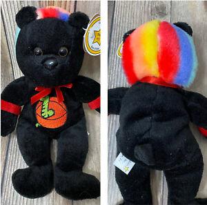 "Celebrity Bear Star #15 DENNIS RODMAN ""The Worm"" Beanie Stuffed Plush Doll 9"""