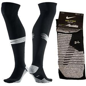 Nike Strike Knee High Soccer Socks Grip SX6938-011 Black Mens 6-7.5 Womens 7.5-9