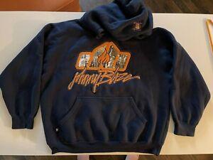 JOHNNY BLAZE - METHOD MAN Hoodie Wu-Tang NYC Skyline Embroidered Logo Mens SZ XL