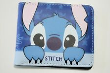 Wallet Lilo and Stitch Disney Bifold Men Boy Blue Coins Cards Notes