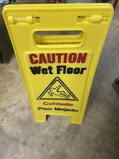 Wet Floor Caution Sign Englishspanish Safty Yellow Th
