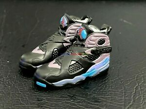 """1/6 Shoes Basketball Sneakers AJ8 Aqua Black For 12"""" Action Figure Toy Collect"""