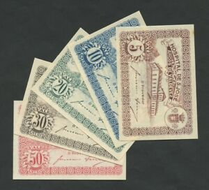 PORTUGAL  Arcos de Valdevez 1920 Full Set 5, 10, 20, 30, 50 centavos Banknotes