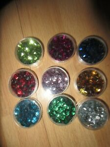Craft cleanout -9  containers of sequins