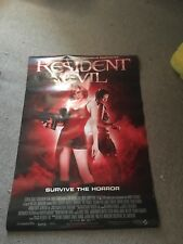 2002 RESIDENT EVIL MOVIE POSTER MILA JOVICH- Pre Owned
