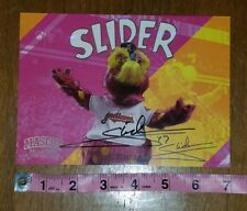 Cleveland Indians Mascot Slider Autograph Glossy Card