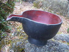 Japan antique bowl wooden with spout Japanese old design rare before edo #1316