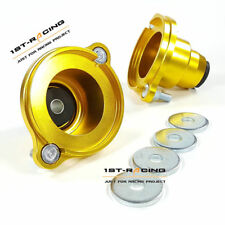 FOR 01-05 Honda Civic ES1 EM2 EP3 Top Rear Mount pillow Camber Plates GOLDEN NEW