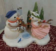 """Lenox Lynn Bywaters """"Masterpiece in the Making"""" Artist and Model Snowmen"""