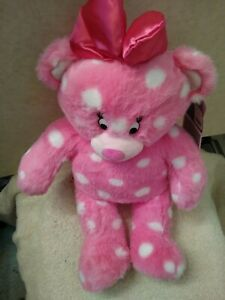 BUILD A BEAR Downtown Disney Exclusive Pink Minnie Mouse Bear nwt