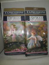 3 NEW RARE DISC. EXPRESSIONS ENCHANTED FOREST GARDEN FAIRIES FAIRY WALL BORDER