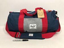 RARE - HERSCHEL x CHAMPION Sutton Mid Navy Red Gray DUFFLE BAG Shoulder Gym Vtg