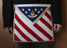Blue Lodge Patriotic Past Master Masonic Freemason U.S. Flag Apron