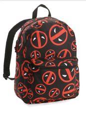 """Marvel Deadpool Logo ALL OVER Print Backpack 16"""" NEW!!"""