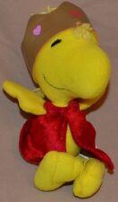 "7"" Woodstock The Bird Wood Stock Peanuts Gang Plush Dolls Toys Royal King Crown"