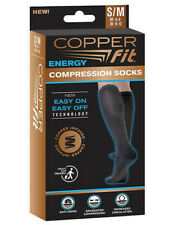 Copper Fit 1 Pair Unisex Compression Socks, Black, Size Small/Medium