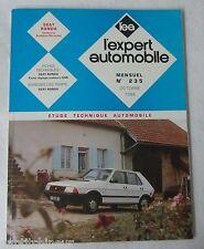 Revue technique EXPERT AUTOMOBILE 235 1986 Seat ronda (moteurs syst porsche)