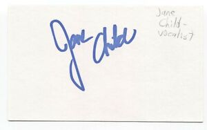 Jane Child Signed 3x5 Index Card Autographed Signature Singer