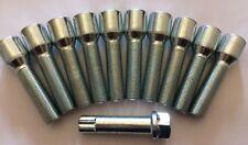 10 X M14X1.25 60° ALLOY WHEEL TUNER BOLTS + KEY 43mm THREAD FOR BMW F07 F10 F11