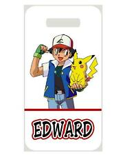 POKEMON BAG TAG Personalized NAME Info Custom For Luggage Backpacks 2 side print