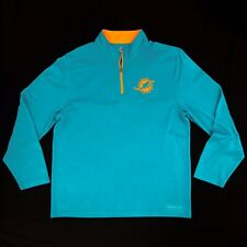 Majestic Miami Dolphins Men's XL Pullover 1/4 Zip Fleece Shirt Thermabase NFL