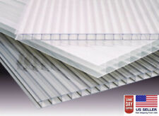 (PACK OF 2) 24''x 48''x 8 mm (5/16) POLYCARBONATE TWIN WALL  CLEAR SHEETS