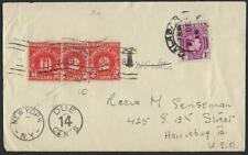 NIGERIA US 1950 CALABAR TO HARRISBURG PA W/ POSTAGE DUES IN NEW YORK & T MARKING