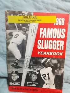 1968 Famous Slugger Yearbook: Carl Yastremski, Roberto Clemente. Ted Williams