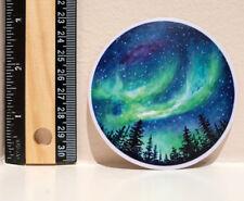 "Adventure Northern Lights Aurora Camping National Parks 3"" Decal Sticker #4385"