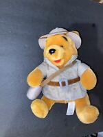 "Winnie the Pooh Bear Plush Safari Bean Bag Stuffed Animal 10"" Walt Disney World"