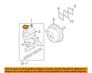 HYUNDAI OEM Santa Fe-Brake Master Cylinder/other Reservoir Tank Cap 5853125300