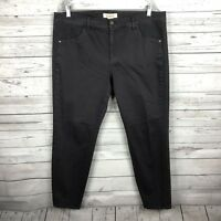 Sundance Catalog Womens Gray Skinny Slim Jeans Sz 16 Embroidered Sides