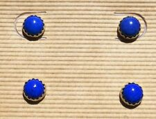 Lapis Stud Stone Sterling Silver Handcrafted Earrings