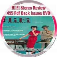 Hi Fi Stereo Review Magazines Music Vintage Defunct 495  PDF 2 DVDs