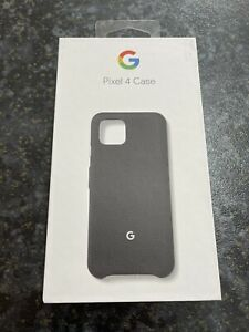 Official Google Pixel 4 Fabric Case Back Cover - Just Black